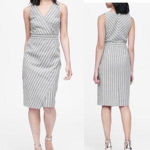 Banana Republic Striped Sheath Dress